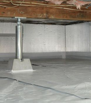 Installed crawl space insulation in Austin