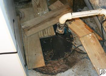 An ugly, clogged sump pump system in Palisade, Colorado